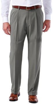 Haggar Men's eCLo Glen Plaid Classic-Fit Pleated Dress Pants