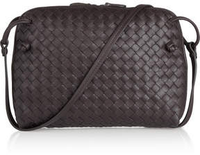 Bottega Veneta - Messenger Small Intrecciato Leather Shoulder Bag - Dark brown