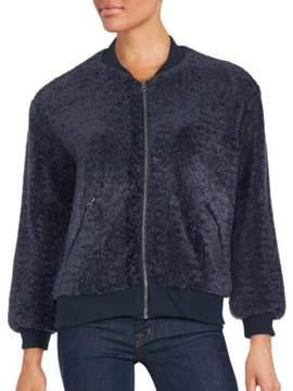 C&C California Faux Shearling Long Sleeve Jacket