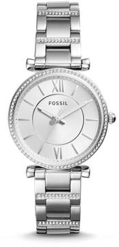 Fossil Carlie Three-Hand Stainless Steel Watch