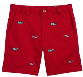 Vineyard Vines Toddler Boy's Candy Cane Whale Breaker Shorts