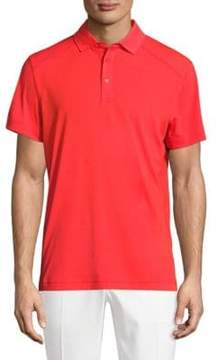 J. Lindeberg Golf Dennis Racing Short-Sleeve Polo