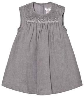 Cyrillus Grey Woven Smock Dress