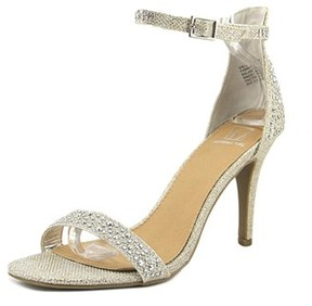 Material Girl Blaire Women Open Toe Synthetic Silver Sandals.