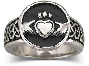 JCPenney FINE JEWELRY Men's Claddagh Band Stainless Steel