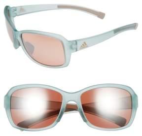Women's Adidas Baboa 58Mm Sunglasses - Mint Green/ Taupe