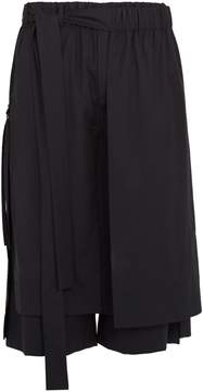 Craig Green Layered tie-side wool cropped trousers