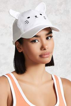 Forever 21 Cat Face Baseball Hat