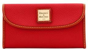 Dooney & Bourke Pebble Grain Continental Clutch Wallet - TERRACOTTA - STYLE