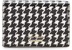 Kate Spade Cameron Street Houndstooth Gabe Small Bifold Wallet