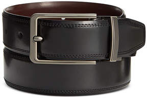 Perry Ellis Men's Leather Silver Lines Reversible Belt
