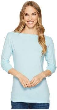 Allen Allen 3/4 Sleeve Boat Neck Women's Clothing