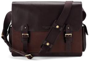 Aspinal of London Large Shadow Messenger In Brown Nubuck