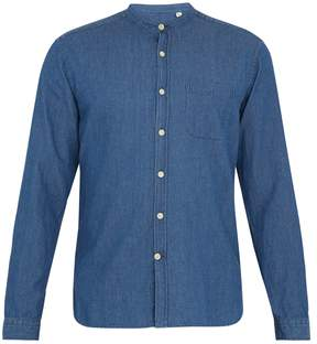 Oliver Spencer Grandad-collar denim shirt