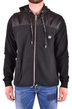 Les Hommes Men's Black Cotton Sweatshirt.