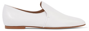 The Row Alys Leather Loafers - White