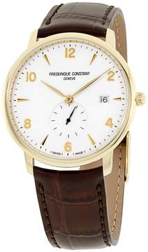 Frederique Constant Slimline FC245VA5S5 Gold Tone Stainless Steel & Silver Dial 38mm Mens Watch