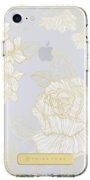Trina Turk Translucent Apple Phone Case - White/Gold - iPhone 6/6S/7/8