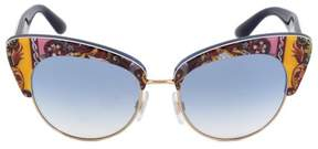Dolce & Gabbana Cat Eye Sunglasses DG4277 303619 52 | Motif Frame | Blue Gradient Lenses