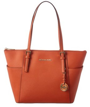 MICHAEL Michael Kors Jet Set Leather East West Tote. - ORANGE - STYLE