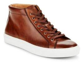Saks Fifth Avenue Leather Mid-Top Sneakers