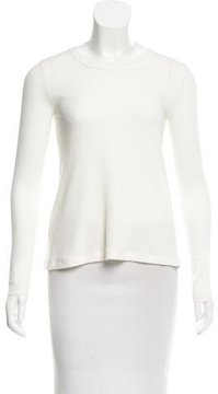 Enza Costa Crew Neck Long Sleeve Top w/ Tags
