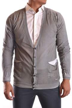 CNC Costume National Men's Grey Cotton Cardigan.