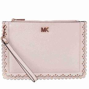 Michael Kors Medium Scalloped Leather Pouch- Soft Pink