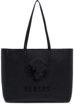 Versus Black Large Lion Head Tote