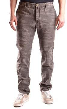 Icon Eyewear Men's Green Cotton Jeans.