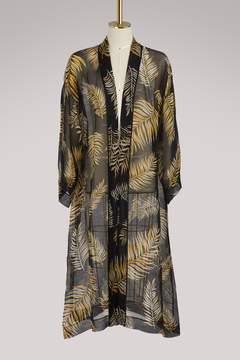 Forte Forte Desert Leaf  printed sheer coat