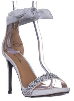 Zigi Soho Sauly Accent Bow Ankle Strap Sandals, Silver.
