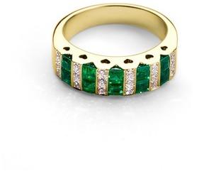 Aspinal of London Heart Emerald Diamond Ring