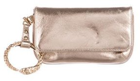 Roberto Cavalli Metallic Leather Wristlet
