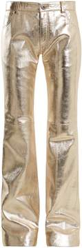 Chloé Wide-leg leather trousers