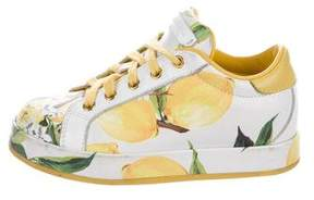 Dolce & Gabbana Girls' Spring 2016 Lemon Print Sneakers