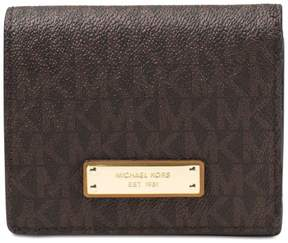 Michael Kors Jet Set Travel Logo Card Holder - Brown - AS SHOWN - STYLE