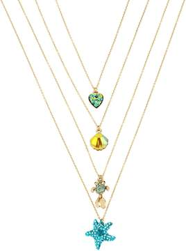 Betsey Johnson CRABBY COUTURE FOUR NECKLACE SET