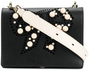 Salvatore Ferragamo pearl embellished shoulder bag