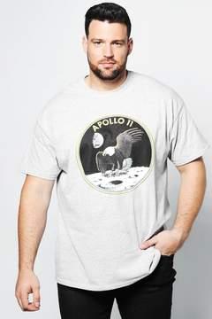 boohoo Big And Tall NASA Apollo T-Shirt