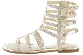 Stuart Weitzman Girls' Camia Gladiator Sandals