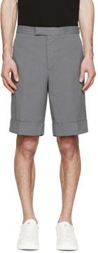 Moncler Gamme Bleu Grey Seersucker Shorts