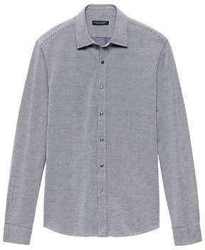 Banana Republic Grant Slim-Fit Grid Performance Knit Shirt