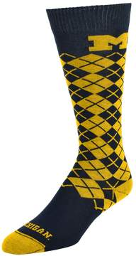 NCAA Men's Mojo Michigan Wolverines Argyle Socks