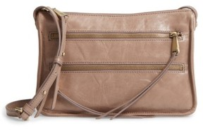 Hobo Mission Leather Crossbody Bag - Grey