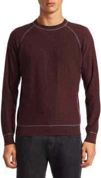 Luciano Barbera Men's Crewneck Cashmere Sweater