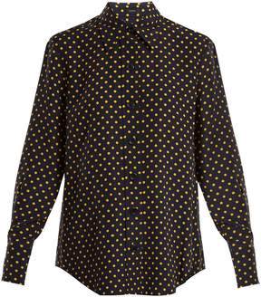 Joseph New Garcon polka-dot print shirt