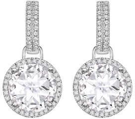 Grace 18k White Gold/Diamond/Topaz Earrings