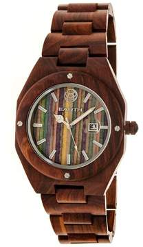 Earth Cypress Collection ETHEW4003 Unisex Wood Watch with Wood Bracelet-Style Band