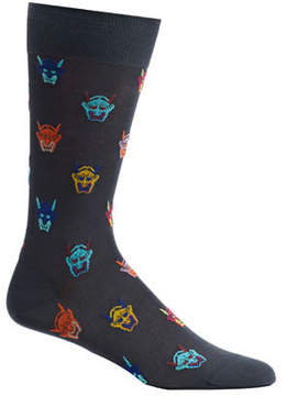 Ozone Men's Hannya Mask Socks